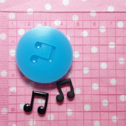 Musical Note Fondant Silicone Mould for Cake Decorating Chocolate Soap Clay Fimo Clay