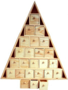 Wood Advent Tree w/ 24 Storage Drawers -Ready to Paint Unfinished