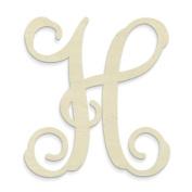 """UNFINISHEDWOODCO Single Vine Monogram Unfinished Letter, 50cm , Letter """"H"""""""