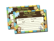 Baby Shower Advice & Prediction Cards for Mom King of Jungle Animal Themed Games