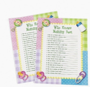 Paper Who Knows Mommy Best Baby Shower Game