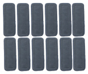 Naturally Natures Soft Baby 5 Layer Charcoal Bamboo Inserts Reusable Liners for Cloth Nappies (Pack of 12)