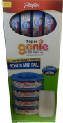 Nappy Genie Essentials Nappy Disposal Mini Pail with 4 Refills 960 Total