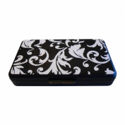 K. Quinn Designs Wipe Case, Black and White damask