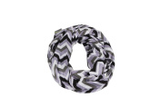 Itzy Ritzy Nursing Happens Infinity Breastfeeding Scarf, Charcoal Haze Chevron