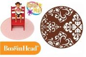 BooginHead SplatMat Protective Floor Mat ~ Brown Flourish
