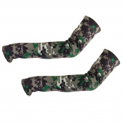 Bicycle Golf Basketball Sun UV Protection Arm Sleeve Arm Cooler - Camouflage