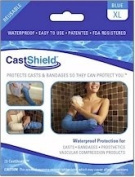 CastShield Waterproof Cast Cover & Bandage Protector, X-Large Blue