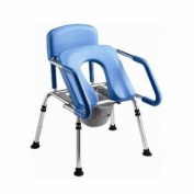 GentleBoost Uplift Assist Commode and Shower Chair with Integrated Toilet Safety Rail. Self-Powered Uplift Seat for Use As Freestanding Commode, Over a Toilet or As a Shower Chair.