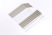 Zotech Stainless Steel Drinking Straws Includes 8 straws and 4 cleaning brushes.