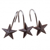 AGPtek® Star Decorative Shower Curtain Hooks, set of 12