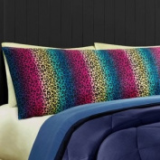 Rainbow Cheetah Print Body Pillow Cover - Soft Microfiber