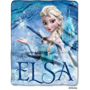 Disneys Frozen Silk Touch Elsa Palace Throw Blanket