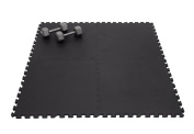 Non-Toxic 60cm X 60cm X ~1.4cm Extra Thick Non-Recycled Quality Multi-purpose Interlocking Black Foam Mats