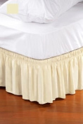 Adorable Bedding Dust Ruffle - 41cm Cotton Bed Skirt, King - Beige