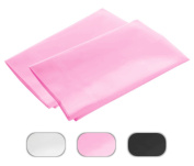 Pink Standard 10cm Hems Set of 2 Pillowcases 300 Thread Count 100% Long Staple Egyptian Cotton Luxury Hotel Quality 21x 32