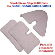 "ESC Tm Standard Size (32cm X 19cm ) / Large Xl (42cm X7.13cm ) / Triangular (28cm X7"") Steam Mop Replacement Pocket Pads for Euro-pro Shark S3501 S3601 S3901 S3550 Se450 Xlt3501 Refill"