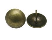Amanaote Metal 2.5cm Diameter Antique Brass Hardware Upholstery Clavos Decorative Nails Tacks