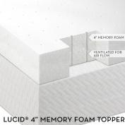 10cm Lucid® by LinenSpa Memory Foam Mattress Topper 3-Year Warranty
