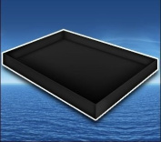 Premium Stand Up Liner Black for Hardside Waterbed Mattress