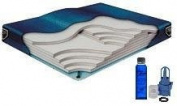 California King Waveless Waterbed Mattress 72w x 84L Boyd Lumbar Supreme with a Fill Kit & a 120ml Bottle of Premium Clear Bottle Conditioner