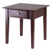 Winsome Wood Rochester End Table with one Drawer Shaker