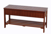 Roundhill Quality Solid Wood Shoe Bench with Storage, Cherry