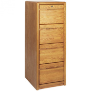 Martin Home Furnishings Contemporary 4-Drawer Wood Verticle File