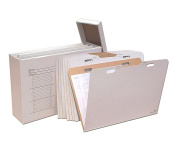 Offex Vertical Flat File Organiser - Stores Flat Items up to 60cm x 90cm