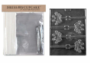 Dress My Cupcake DMCKITK139 Chocolate Candy Lollipop Packaging Kit with Mould, Princess Crown Lollipops