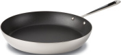All Clad 4113NSR2 Stainless Steel Tri-Ply Bonded Dishwasher Safe 33cm PFOA-free Nonstick French Skillet / Cookware, Silver
