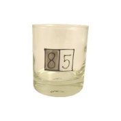 85th Birthday Gift Grey Sq Whiskey Glass