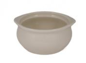 CAC China OC-12-W 350ml Stoneware Round Onion Soup Crock, 13cm by 6cm , American White, Box of 24