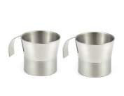 StainlessLUX 77385 Two-tone Double-walled Stainless Steel Small Cups (210ml), 2 Cups in a Set