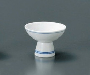 SUJIIRI Jiki Japanese Porcelain Set of 4 SAKE Cups