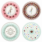 Gorham Merry Go Round Polly Put The Kettle On Dessert Plates - Set(s) Of 4