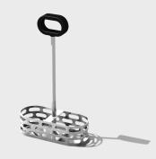 SteelForme Brushed Stainless Steel Oil & Vinegar Set w/ Stand