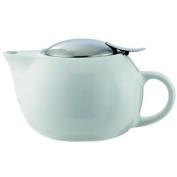Service Ideas TPC16WH White 470ml Round Ceramic Teapot