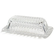 KitchenWorks Large Royale Glass Butter Dish