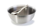 Stainless Steel Salad Bowl and Server Set - Satin Finish