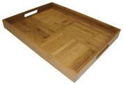 Simply Bamboo Large (50cm X 38cm ) Criss-Cross Rectangular Serving Tray