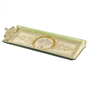 """Grasslands Road Celtic 13cm by 38cm """"Friends & Family.."""" Claddagh Cheese Tray with Stand"""