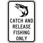 ComplianceSigns Aluminium Recreation sign, Reflective 46cm x 30cm . with Boating / Marine / Fishing info in English, White