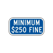 ComplianceSigns Vinyl Parking Control label, Reflective 30cm x 15cm . with Parking Handicapped info in English, Blue