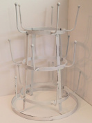 Rustic Iron French Wine / Beer / Baby Bottle Tree Glass Cup Drying Rack, French White