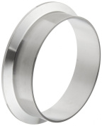 Dixon L14AM7-G400 Stainless Steel 304 Sanitary Fitting, Long Weld Clamp Ferrule, 10cm Tube OD
