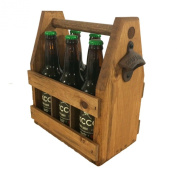 Handcrafted Wooden Beer Carrier / Holder / Tote. Wood Six Pack