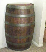 Oak wood Whole Wine Barrel , gloss lacquer finish for indoor