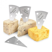 Final Touch FTA1901 Stainless Steel Cheese Markers, Set of 4