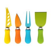 Farberware 4 Piece Multi-Coloured Resin Cheese Knife Set